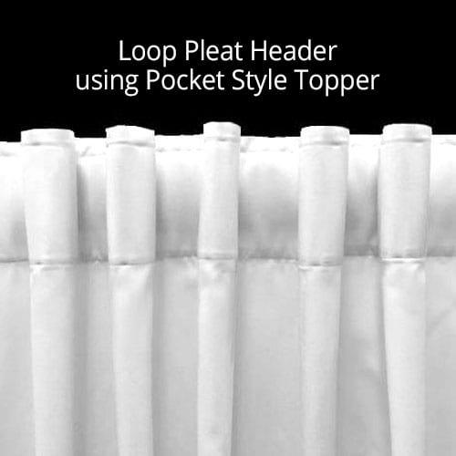 Loop Pleat Header
